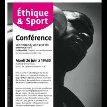 'Ethics & Sports' (lecture)