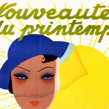 Promotion poster for the clothing store 'Au Printemps'