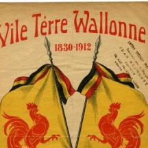 Couverture de la partition de 'Vîle térre wallonne' (1912)