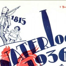 Couverture du programme du pèlerinage wallon à Waterloo (1936)
