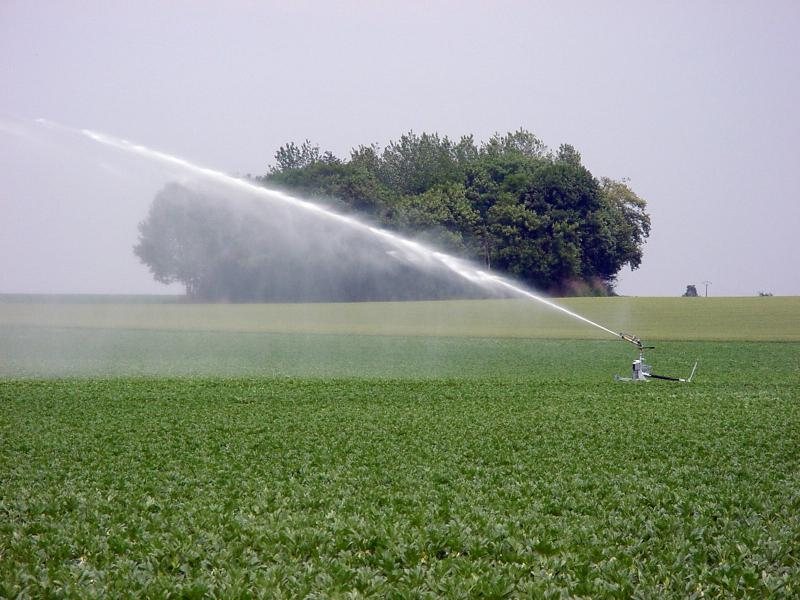 Irrigation d'un champ