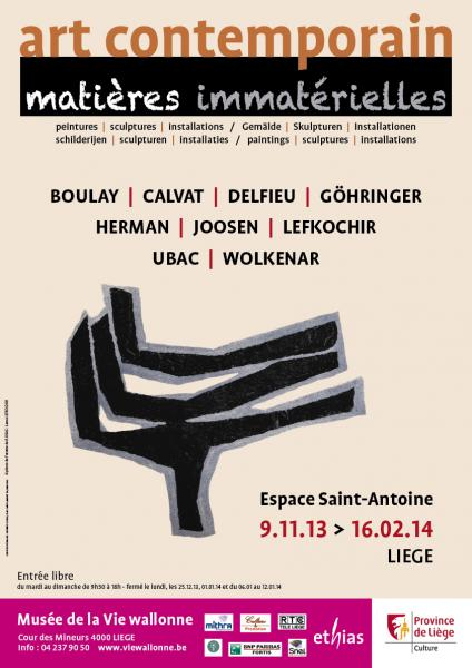 Original promotionnal poster of the exhibition