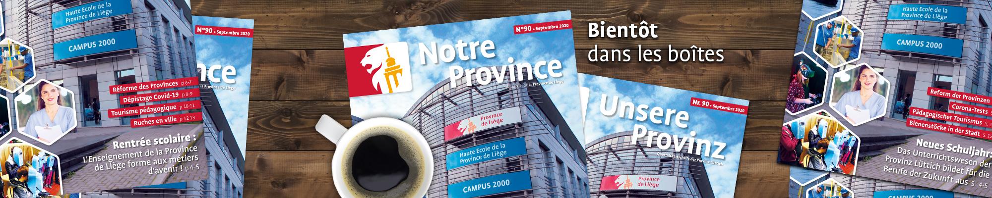 """Le magazine """"Notre Province"""" de septembre est disponible!"""