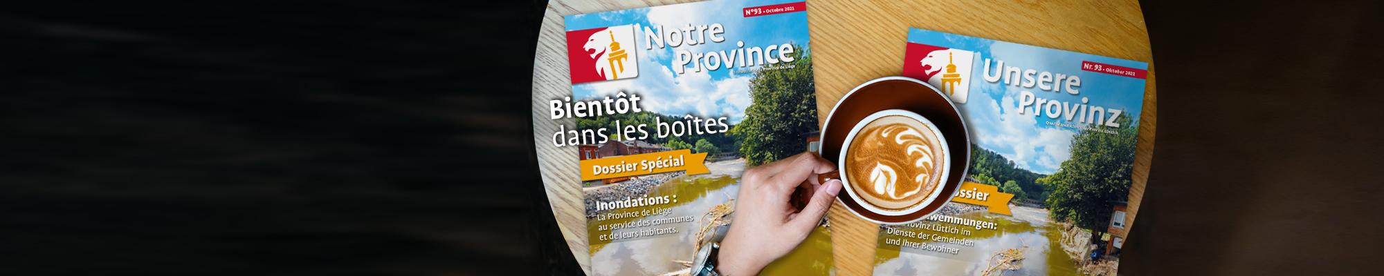 """Le nouveau numéro du magazine """"Notre Province"""" est disponible"""