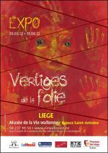 Affiche de l'exposition 'Vertiges de la folie'