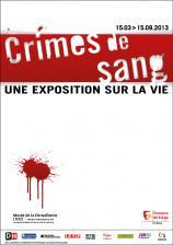 Affiche de l'exposition 'Crimes de sang'