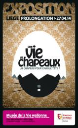 Affiche de l'expo 'Une Vie de chapeaux'