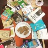 La pile de livres du dernier Café littéraire