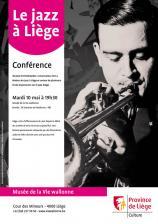 Affiche de la conférence 'Le jazz à Liège'