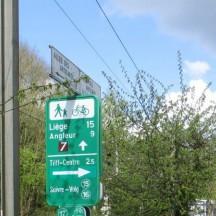 Panneau point-nœud Liège - Angleur - Tilff-Centre