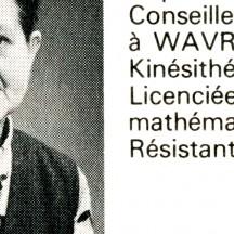 Mathilde Boniface, extrait d'un tract électoral, 1974