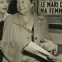 Avec Pauline Carton (au centre) et René Rongé (à droite)
