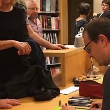 Sébastien Gnaedig dédicace à la bibliothèque de Poulseur