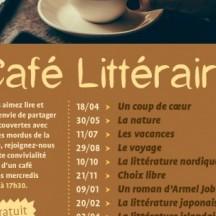 Café littéraire : le programme