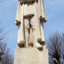 Spa, statue du Maréchal Foch