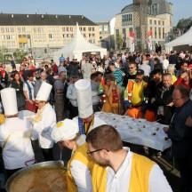 Petit déjeuner populaire au départ de Liège Bastogne Liège