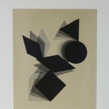 Pol Bury - Disque, triangle, losange s.d. - Eau-forte sur papier