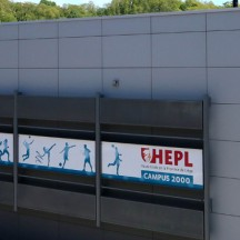 Hall omnisport HEPL Jemeppe Campus 2000