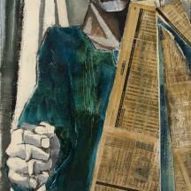 Pierre Čech, Sans titre, acrylique et collage sur unalit, 1995