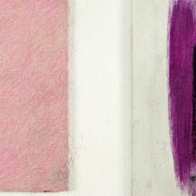 Guy Vandeloise, Rébus : la rose, crayon pastel sur coton maroufl