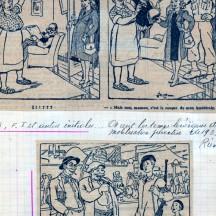 Octobre 1944, caricatures de presse