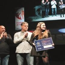 Remise du prix de l'espoir sportif à Amandine Verstappen