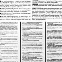 Texte de la Déclaration universelle des Droits de l'Homme