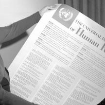 Eleanor Roosevelt, ayant participé à la rédaction