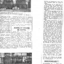 Lecture des chefs d'accusation à Nuremberg