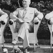 Juillet 1945, conférence de Potsdam (avec Harry S. Truman)