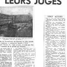 Des chefs nazis devant leurs juges