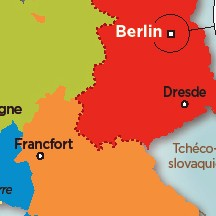Tracé d'occupation des Alliés en Allemagne vaincue