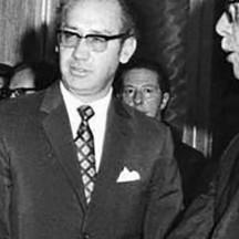 José María Velasco Ibarra  reçoit Fidel Castro à Guayaquil