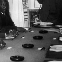 1960, négociation avec la France pour l'indépendance du Mali