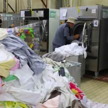 1T/jour de linge en faveur des sinistrés lavé à la blanchisserie