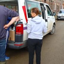 Distribution de vivres et de biens de 1ère nécessité