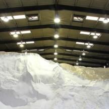 Hall de stockage du sel