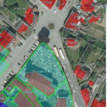 Sélection des parcelles à 50 mètres autour d'une parcelle étudié