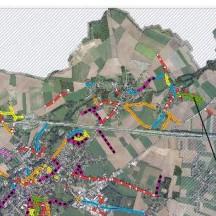 Stadt von Waremme - Verlauf der Straßenarbeiten - Ortho