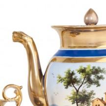 Théière et tasse Atelier Van Marcke (1ère moitié du 19e siècle)