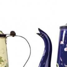 Cafetières peintes à la main (début 20e siècle)