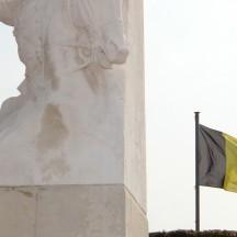 La statue du Cavalier Fonck, à Thimister-Clermont