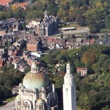 Vue aérienne du Mémorial Interallié de Cointe (Liège)