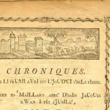 Chroniques de Maillart