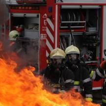 Sapeur Pompier sur le terrain
