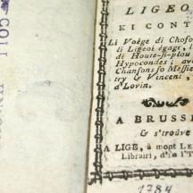 Li tèyåte lidjwès, exemplaire de 1784
