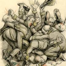 Caricature de ministres flamands (début du 20e siècle)