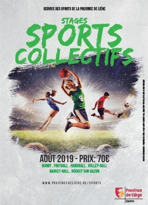 Stages sports collectifs été 2019