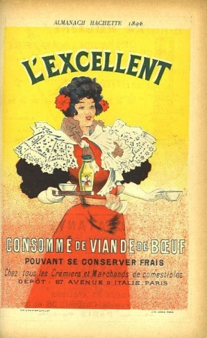 Publicité de l'almanach Hachette 1896