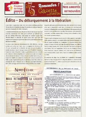 Gazette Nos libertés retrouvées
